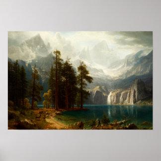 Bierstadt Sierra Nevadas Poster