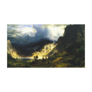 Bierstadt Storm in the Rocky Mountains Canvas Print