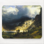 Bierstadt Storm in the Rocky Mountains Mouse Pad