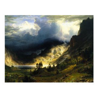 Bierstadt Storm in the Rocky Mountains Postcard