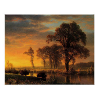 Bierstadt - Western Kansas Poster