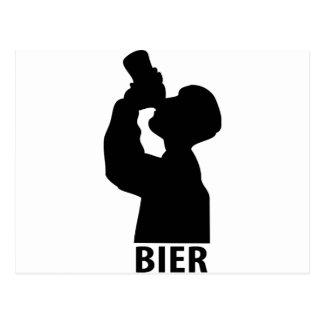 Biertrinker icon postcard