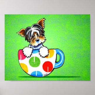 Biewer Yorkie Polka Dot Cup Green Print