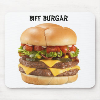 Biff burgar mousepad