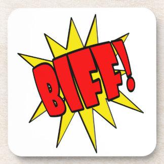Biff Cartoon SFX Coasters