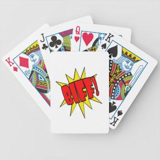 Biff Cartoon SFX Playing Cards