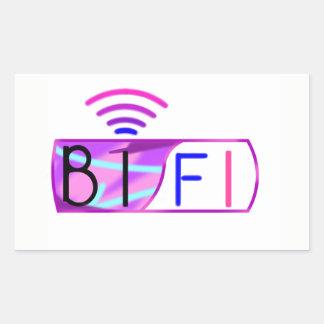 Bifi Bisexual pride Rectangular Sticker