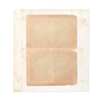 Bifold Filo Vintage Old Paper Looking Brown Notepad