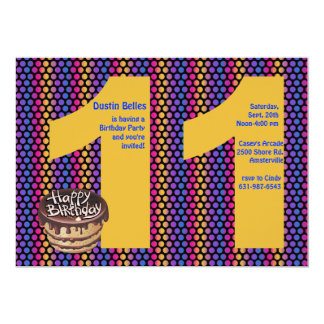 Big 11 Birthday Party Invitation