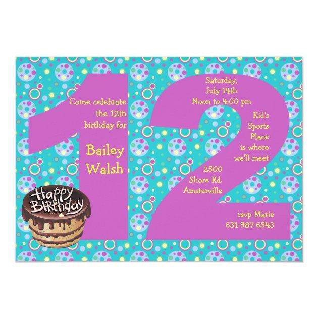 Unique 12 Birthday Invitations Ideas Invitation Card
