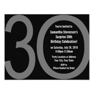 Big 3-0 Birthday Party Invitations
