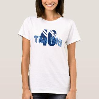 Big '40', birthday, fun text, for anyone. T-Shirt