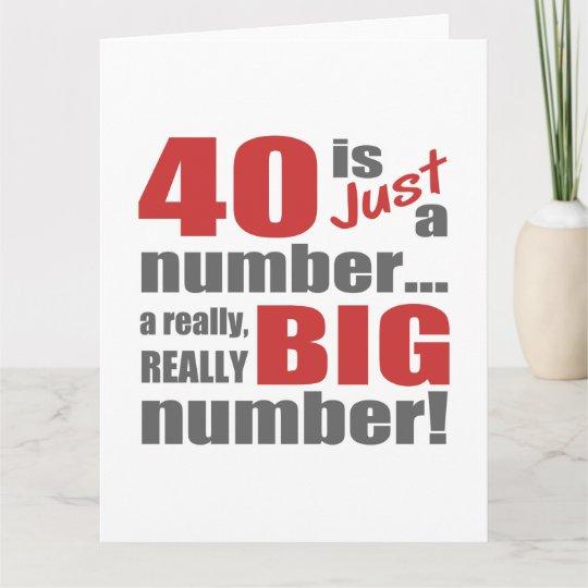 Big 40th Birthday Card Zazzle