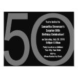 Big 5-0 Birthday Party Invitations