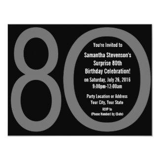 Big 8-0 Birthday Party Invitations