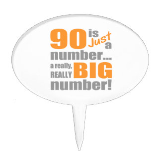 Big 90th Birthday Cake Toppers