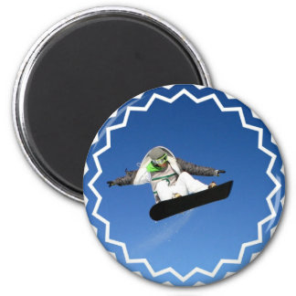 Big Air Snowboarding Magnet