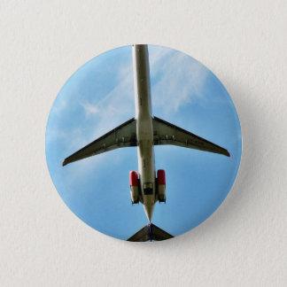 Big Airplane Take Off 6 Cm Round Badge