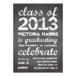 Big and bold grey chalkboard typography modern invitations