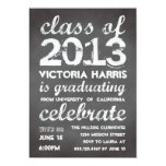Big and bold grey chalkboard typography modern invitations