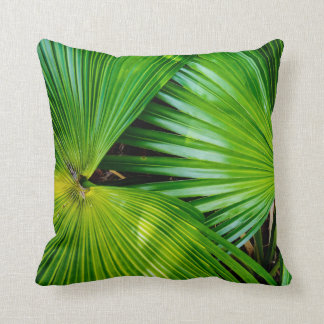 Big And Bright Leaves From The Tropics Throw Pillow