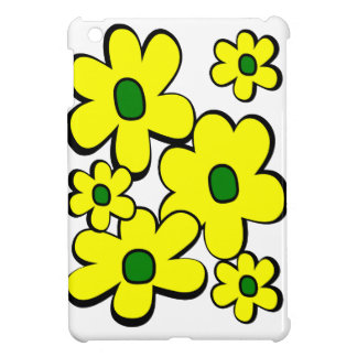 Big And Small Daisies--Yellow And Green iPad Mini Cases