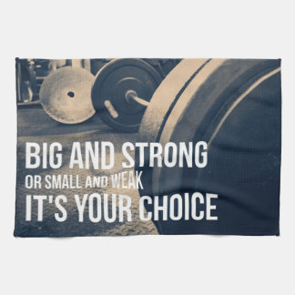 Big And Strong - Gym Workout Motivational Kitchen Towels