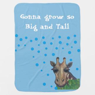 Big and Tall Giraffe Baby Blanket