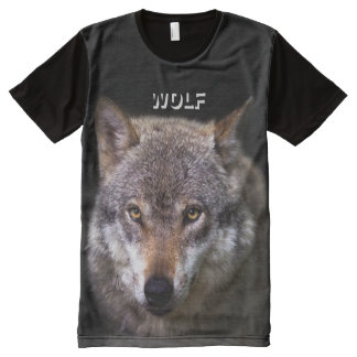 Big and Wild Gray Wolf All-Over Print T-Shirt