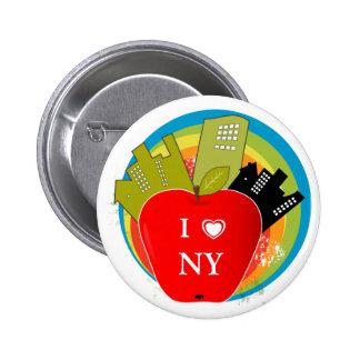 Big Apple - New York 6 Cm Round Badge