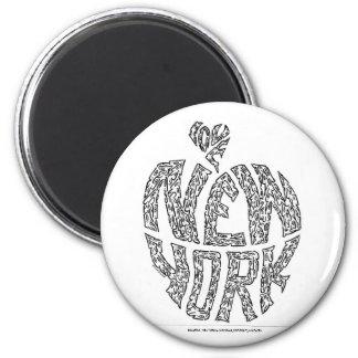 BIG APPLE - NEW YORK by NICHOLAS 6 Cm Round Magnet