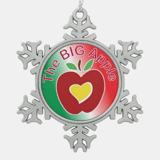 Big Apple Pewter Snowflake Ornament