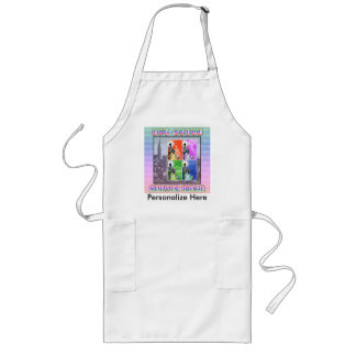 Big Apple Served Here Long Apron