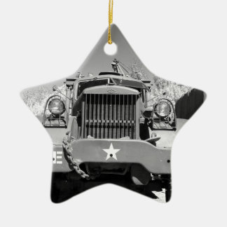 Big Army Truck Ceramic Star Decoration