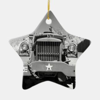 Big Army Truck Christmas Ornament