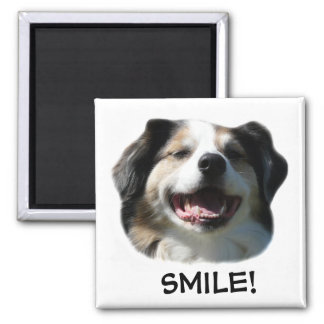 Big Aussie Smiles! Square Magnet