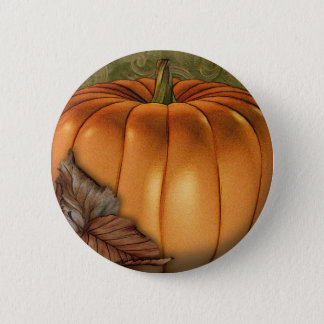 Big Autumn Pumpkin 6 Cm Round Badge