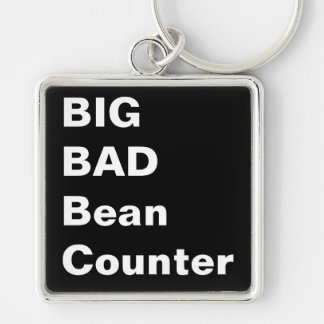 BIG BAD BEANCOUNTER - Humorous Accountant Gift Key Ring