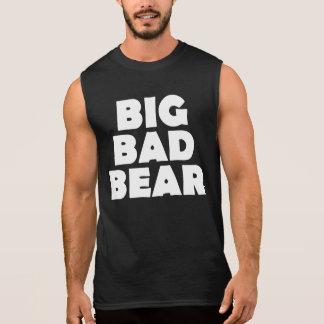 Big Bad Bear White Bear Paw Back Sleeveless Shirt