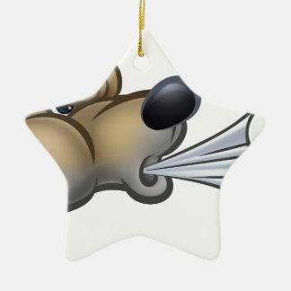 Big Bad Wolf Blowing Christmas Ornament