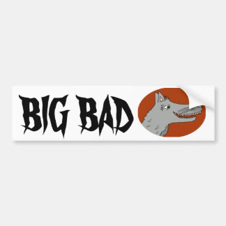 BIG BAD WOLF cartoon storybook red riding hood Bumper Sticker