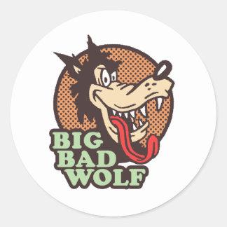 Big Bad Wolf Classic Round Sticker