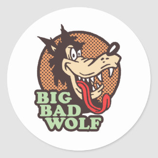Big Bad Wolf Round Stickers