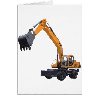 Big Bagger Excavator Greeting Card