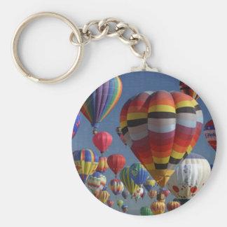 BIG BALLOONS by SHARON SHARPE Basic Round Button Key Ring