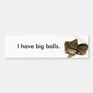 Big balls bumper sticker