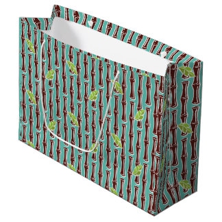Big Bamboo - Aqua - Large Gift Bag