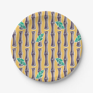 "Big Bamboo - Yellow - 7"" Paper Plate"