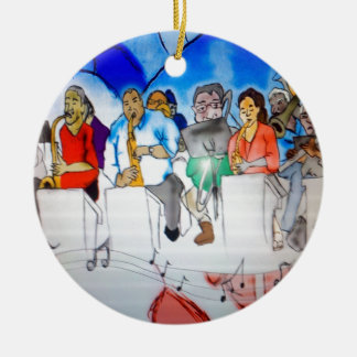 Big Band Music Christmas Ornament