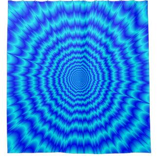 Big Bang Blues Shower Curtain